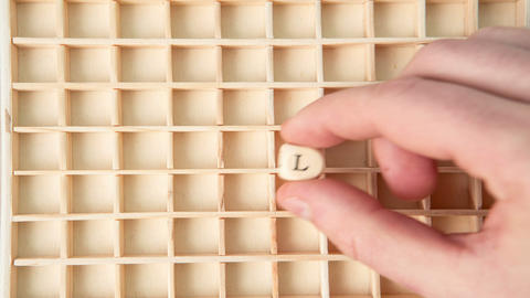 Customer care buzz words spelled out in dice and p Stock Video Footage