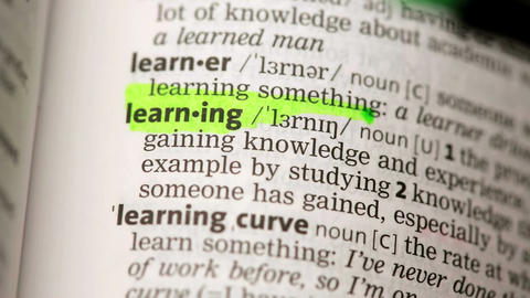 Definition of learning Stock Video Footage