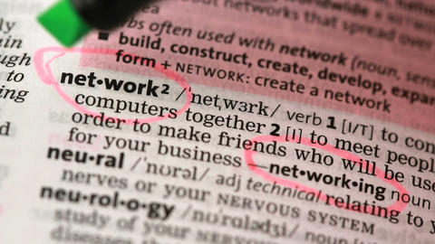 Definition of network and networking Stock Video Footage