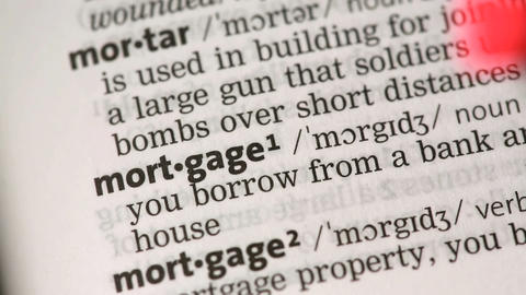 Definition of mortgage Stock Video Footage