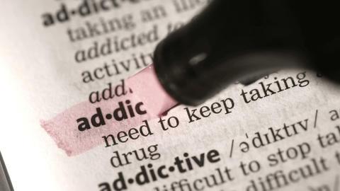 Definition of addiction Footage
