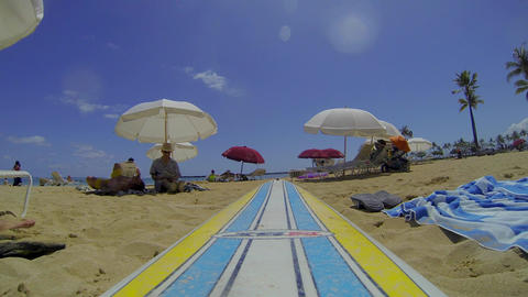 14 seconds on waikiki beach - tourist perspective Footage