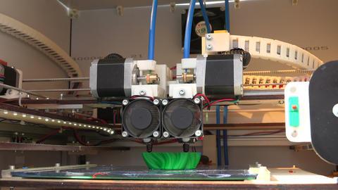 Working 3d printer. 4K Footage