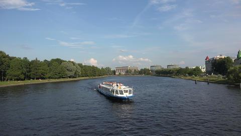 Martynov embankment in St. Petersburg. 4K Footage