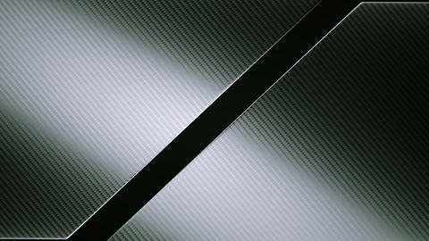 Carbon fibre diagonal leafs or folds opening with  Animation
