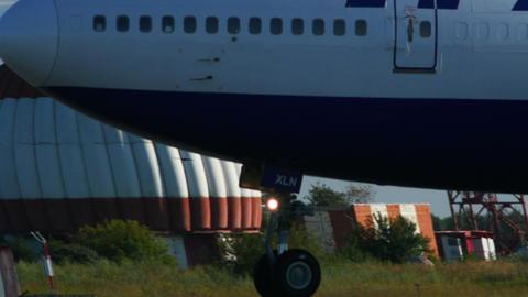 4K UHD Stock footage Big Passenger Plane Takeoff Footage