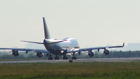 4K UHD Stock footage Cargo Plane Ready for Takeoff Stock Video Footage