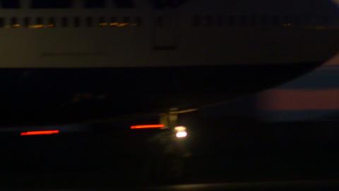Stock footage AirPlane Landing at Night Stock Video Footage