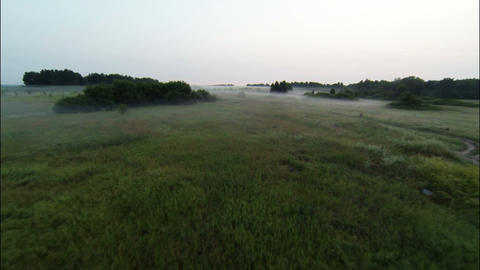 Aerial Stock Footage Countryside in the Early Morn Stock Video Footage