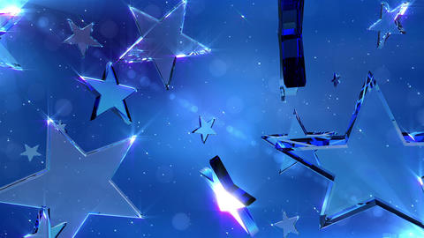Loopable crystal stars Stock Video Footage