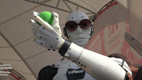 Humanoid robot. 4K Footage