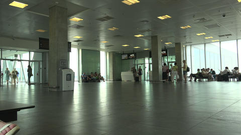The waiting room at the airport Pulkovo. St. Peter Footage