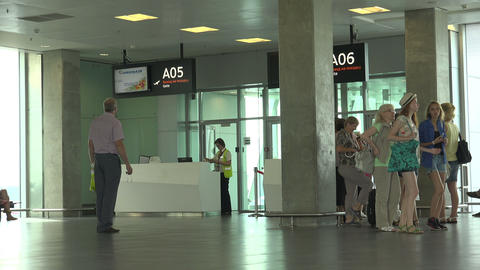 The Waiting Room At The Airport Pulkovo. St. Peter stock footage