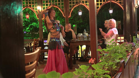 Female oriental dance. 4K Stock Video Footage