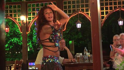 Female Oriental Dance. 4K stock footage