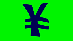 FLOATING YEN SIGN Stock Video Footage