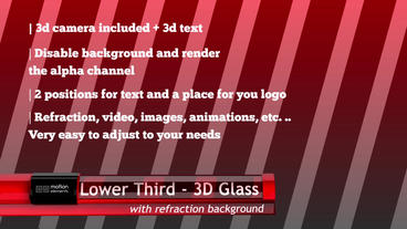 Lower Third 3D Glass stock footage