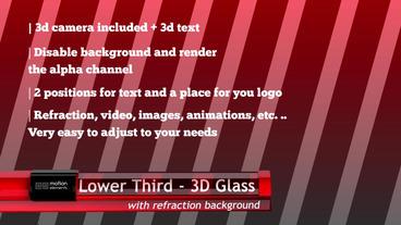 Lower Third 3D Glass Plantilla de After Effects