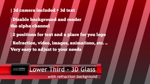 Lower Third 3D Glass After Effectsテンプレート