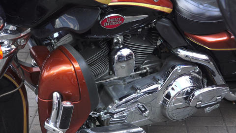 Engine Harley Davidson bike.4K Stock Video Footage