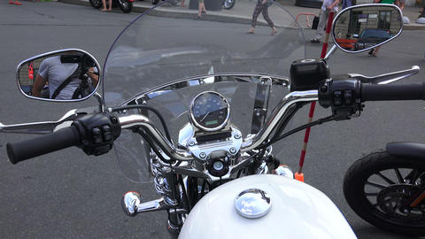 Wheel Harley Davidson bike. 4K Footage