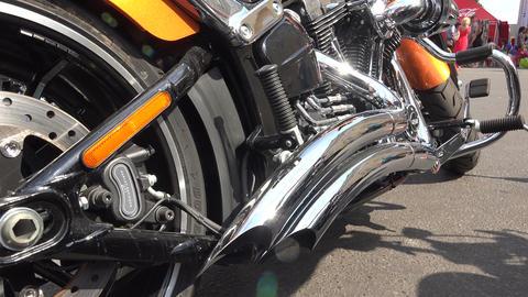 Harley Davidson Bike. 4K stock footage
