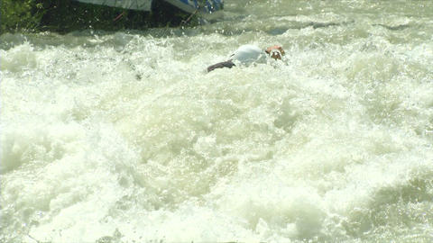 wildwater canoeing man double slow motion 62 Footage
