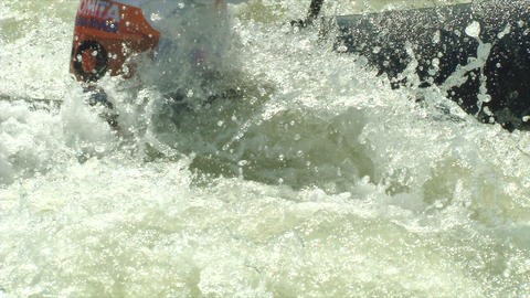 wildwater canoeing man slow motion 29 Footage