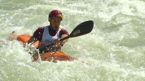 wildwater canoeing man 13 Footage