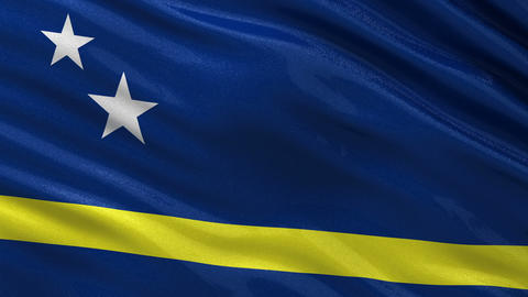 Flag of Curacao seamless loop Animation