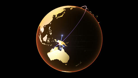Growing Network Across The Globe stock footage