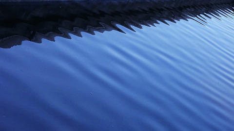 blue water reflections Stock Video Footage