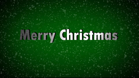 Merry Christmas With Snow Falling stock footage