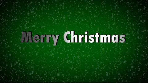 Merry Christmas with Snow Falling Stock Video Footage