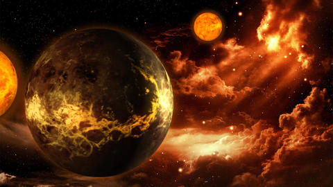 Planets In Space stock footage