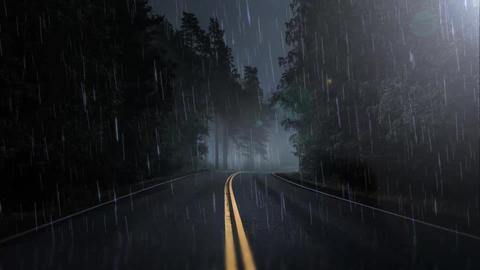Falling Rain Stock Video Footage