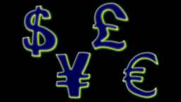 FLOATING MONEY SIGNS Stock Video Footage