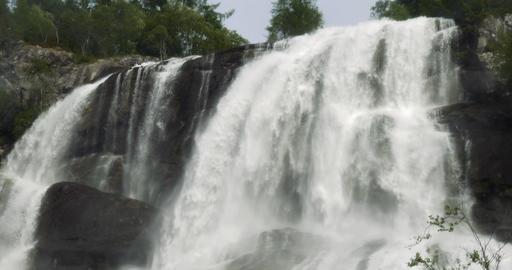 4K, Huge Waterfall, Norway Stock Video Footage