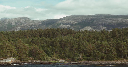 4K, Along The Coastline Of Hardangerfjord With A F Footage