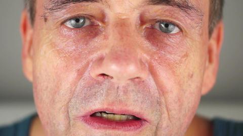 Adult Male Eye Zoom Stock Video Footage
