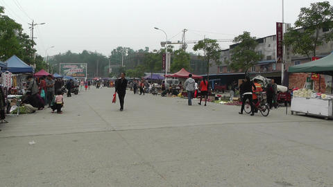 Jintang Town Chengdu Area Sichuan China 63 handhel Stock Video Footage