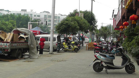 Jintang Town Chengdu Area Sichuan China 68 handhel Stock Video Footage