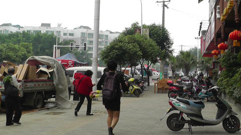 Jintang Town Chengdu Area Sichuan China 68 handhel Stock Video Footage