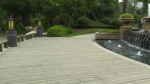 Chinese Park in Sichuan China 4 pan Stock Video Footage
