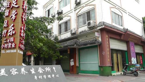 Jintang Town Chengdu Area Sichuan China 14 street Stock Video Footage