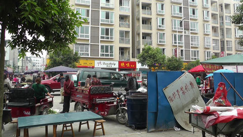 Jintang Town Chengdu Area Sichuan China 24 street Stock Video Footage