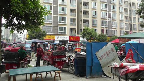 Jintang Town Chengdu Area Sichuan China 24 street Stock Video Footage