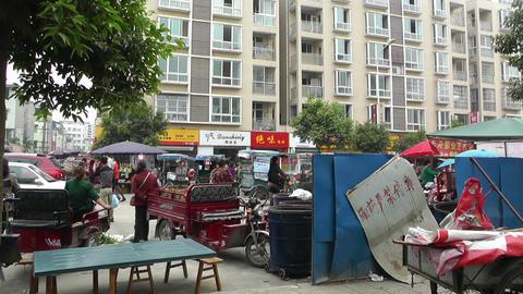 Jintang Town Chengdu Area Sichuan China 24 street  Footage