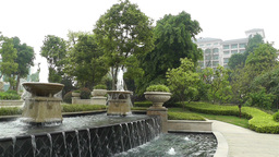 European Style Park Fountain in Sichuan China 3 Footage