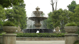 European Style Park Fountain in Sichuan China 2 Footage